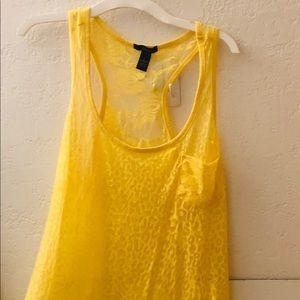 Beautiful Womens Yellow Tank Top